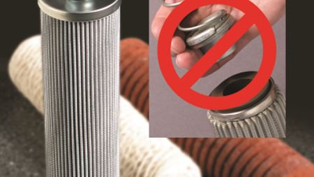 Industrial filters feature integral spring