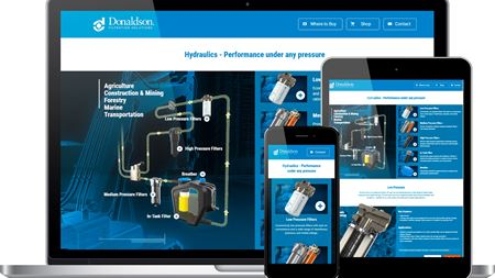 Donaldson announces hydraulics focused web page