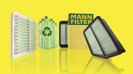 MANN-FILTER boosts recycled fibres in air filters