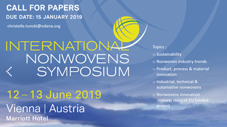 Call for Papers – Nonwovens Symposium 2019