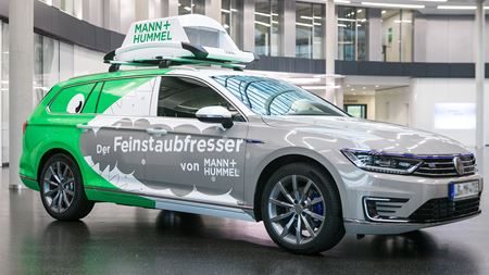 Mann+Hummel tests filter for the reduction of fine dust pollution caused by vehicles