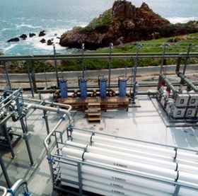 Figure 4: Pre-engineered SWRO system (Photo courtesy of GE Power & Water).