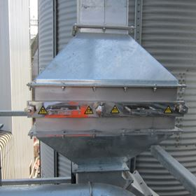 The housed grid magnet was installed to remove fine metal and para magnetic contamination from the grain.