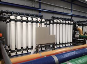 The DOW IntegraPac ultrafiltration modules.