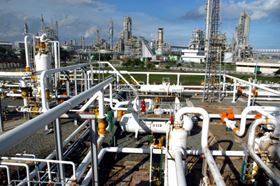 Higher temperature resistant membranes are used in petroleum refinery operations, for example in the recovery of hydrogen from cracker off gases, and for the separation of ethylene and aromatics.