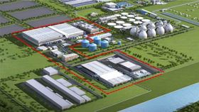 3D illustration of the planned expansion of the Bailonggang wastewater treatment plant. Image: Andritz.