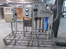 GE Water  Process Technologies RO system and TOC Analyzer purifies the rainwater to a potable level.