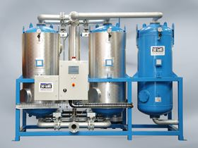 An air dryer from Hi-line Industries, one of its many compressed air purification products.