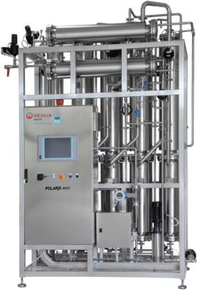 Figure 2. The POLARIS MED is a multiple effect distiller.