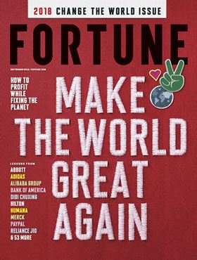 Xylem is ranked 7th on Fortune's 2018 Change the World list.