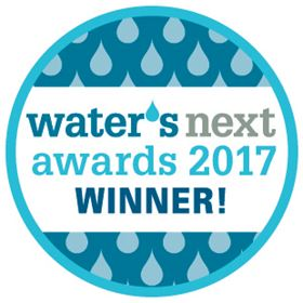 Jeremy Duguay, LuminUltra's Research and Development Manager, accepted the 2017 Water's Next Award for the company's drinking water technologies. (Credit: Actual Media.)
