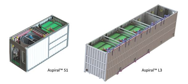 The modular Aspiral system is designed for small- to medium-sized installations.
