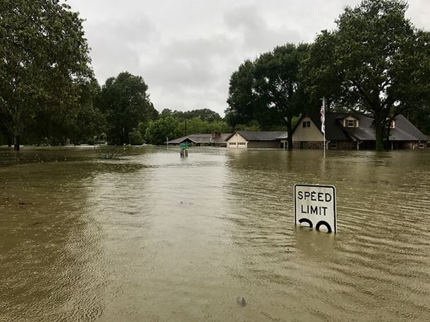 Hurricane Harvey 2017, flooding in Spring Texas, north of Houston. Picture courtesy of MDay Photography/Shutterstock.com.
